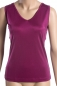 Preview: Top, V-Ausschn., 100% Seide, Interlock, Fuchsia, L