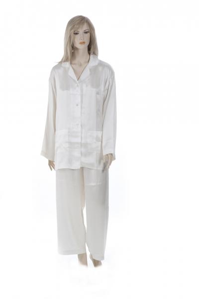 newest 16a23 305af Pyjama, Schlafanzug, Damen, 100% Seide, Natur, XXL